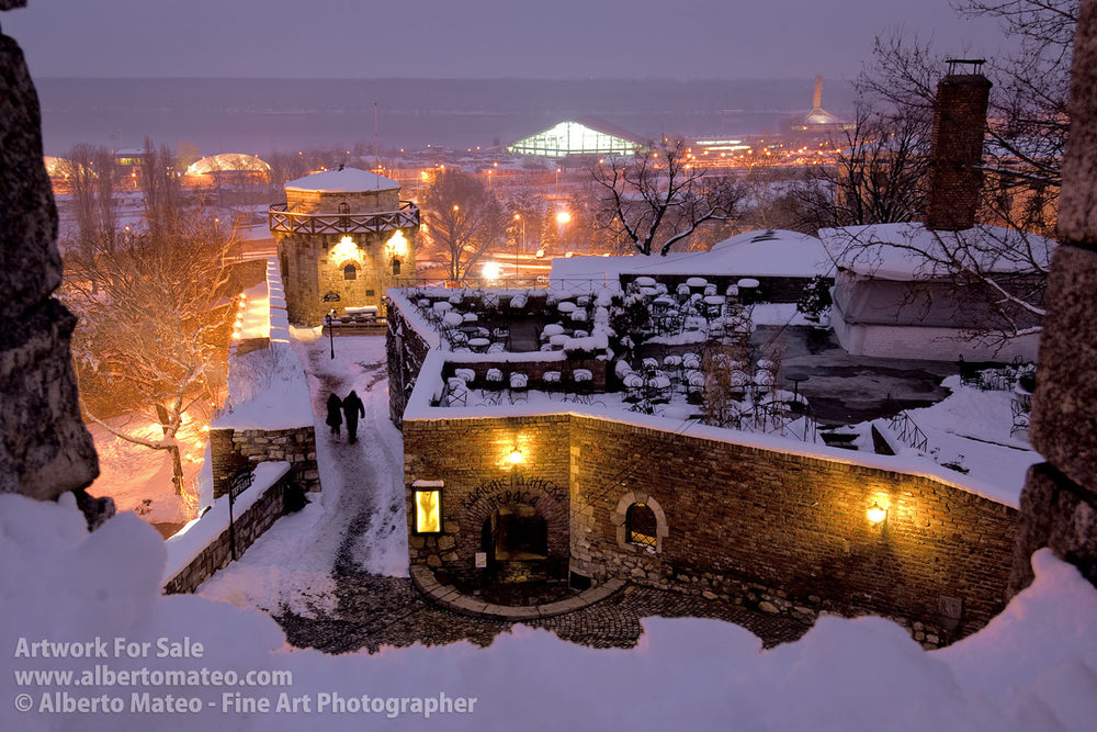 Kalemegdan Citadel, Belgrade in Winter.