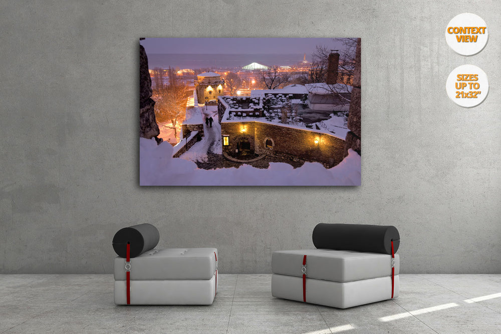 Winter in Kalemegdan Citadel, Belgrade. | Print hanged on living room.