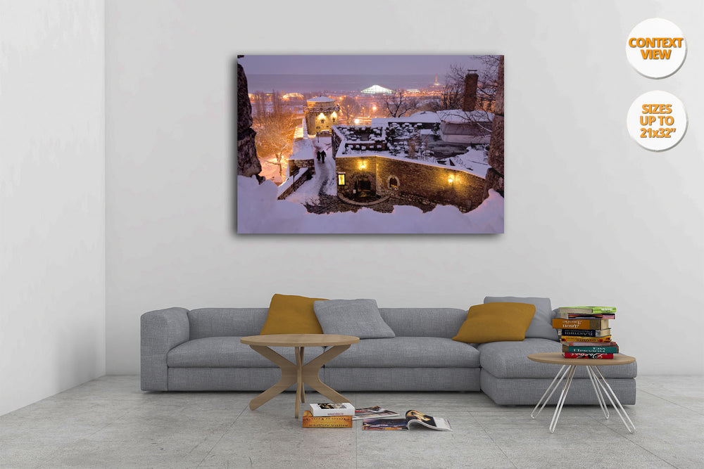 Couplel in Kalemegdan Citadel, Belgrade. | Print hanged on living room.