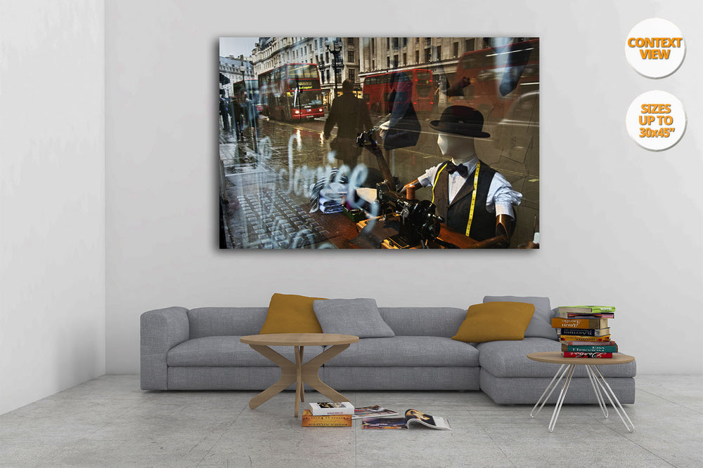 Regent Street, London, UK. | View of the Print hanged in Living Room.