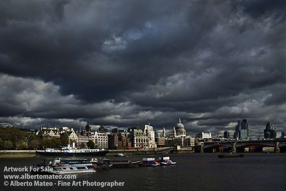 Clouds over Saint Paul Cathedral, London.