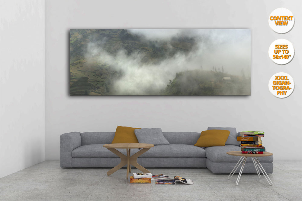 Fog in Bac Ha Mountains, Vietnam. | Giant Print hanged in living room.
