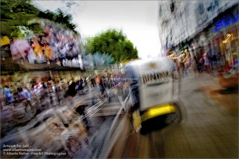 Hauptwache, main commercial street in Frankfurt. | Limited Edition Print.