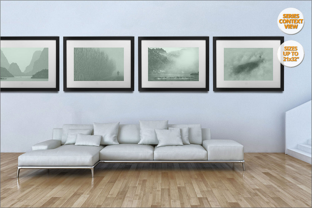 Fog in crop fields, Brugine, Italy. | Hanged in Living room.