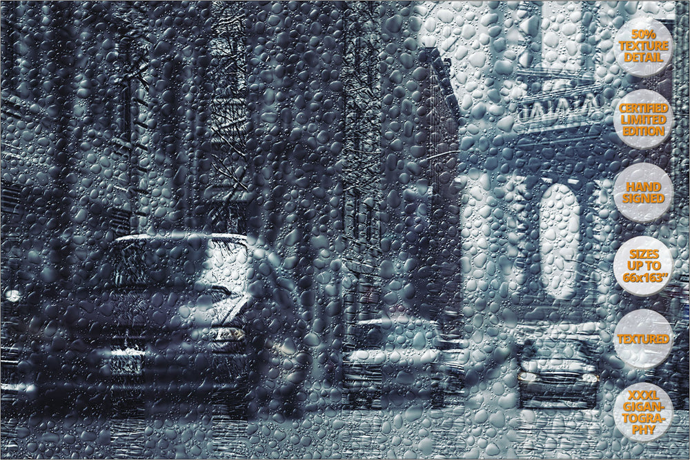 Manhattan Bridge from Brooklyn, NY. | View of the Print at 50% magnification detail.