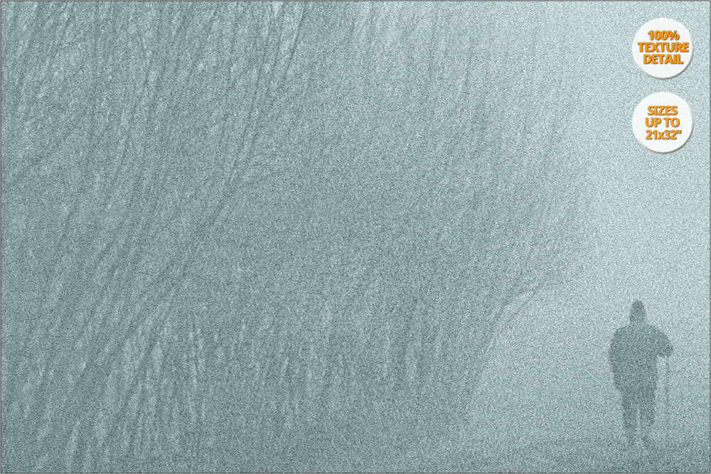 Fog in crop fields, Brugine, Padua. | 100% Magnification Grain Detail.