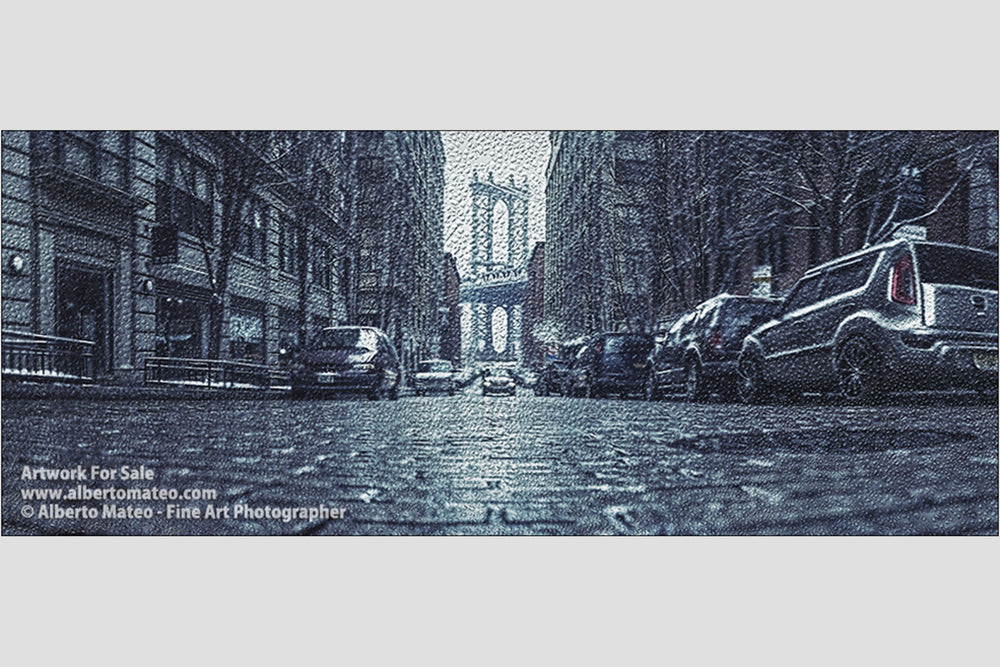 Manhattan Bridge from Brooklyn, NY. | Limited Edition Fine Art Print.