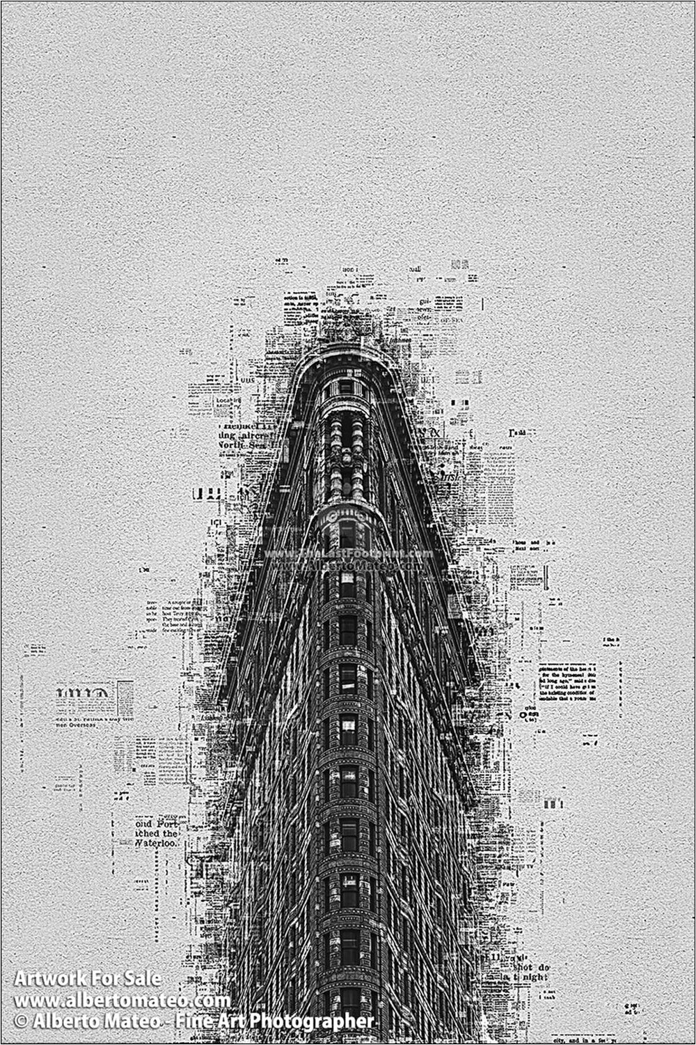 Flat Iron Building, Manhattan, New York. | Already Written Series | Limited Edition Print.
