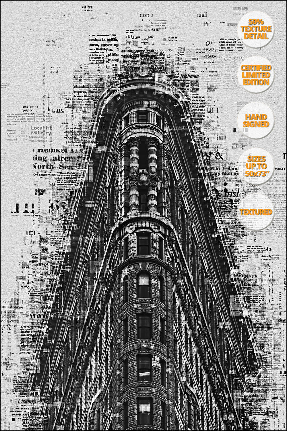 Flat Iron Building, Manhattan, New York. | 50% Magnification Detail.