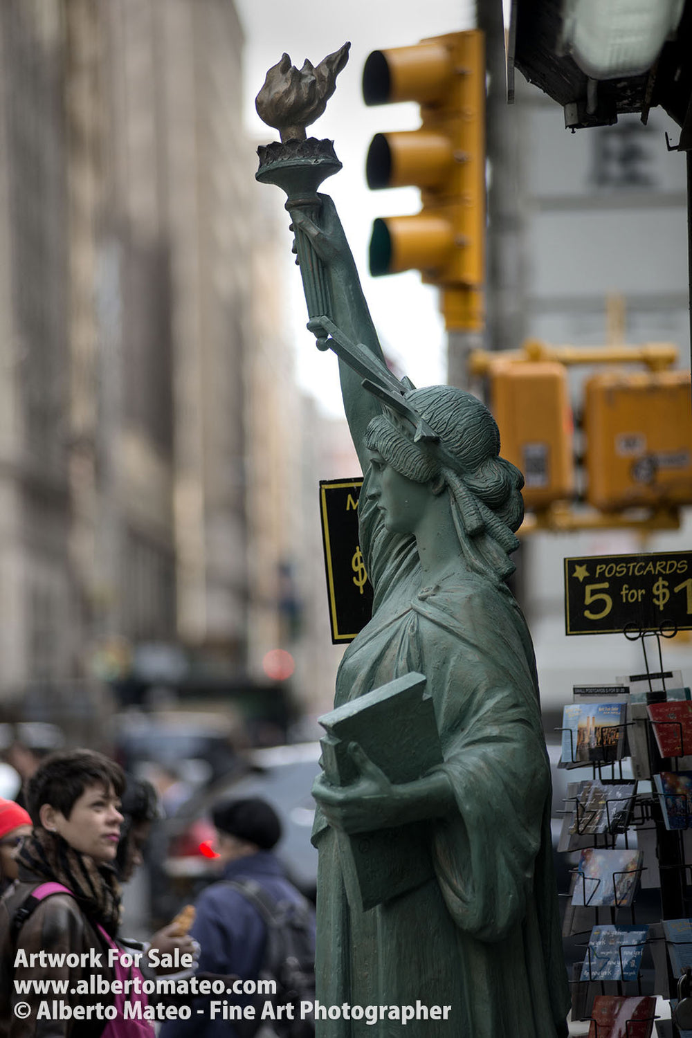 Statue of Liberty, Fifth Avenue, New York. | Open Edition Fine Art Print.