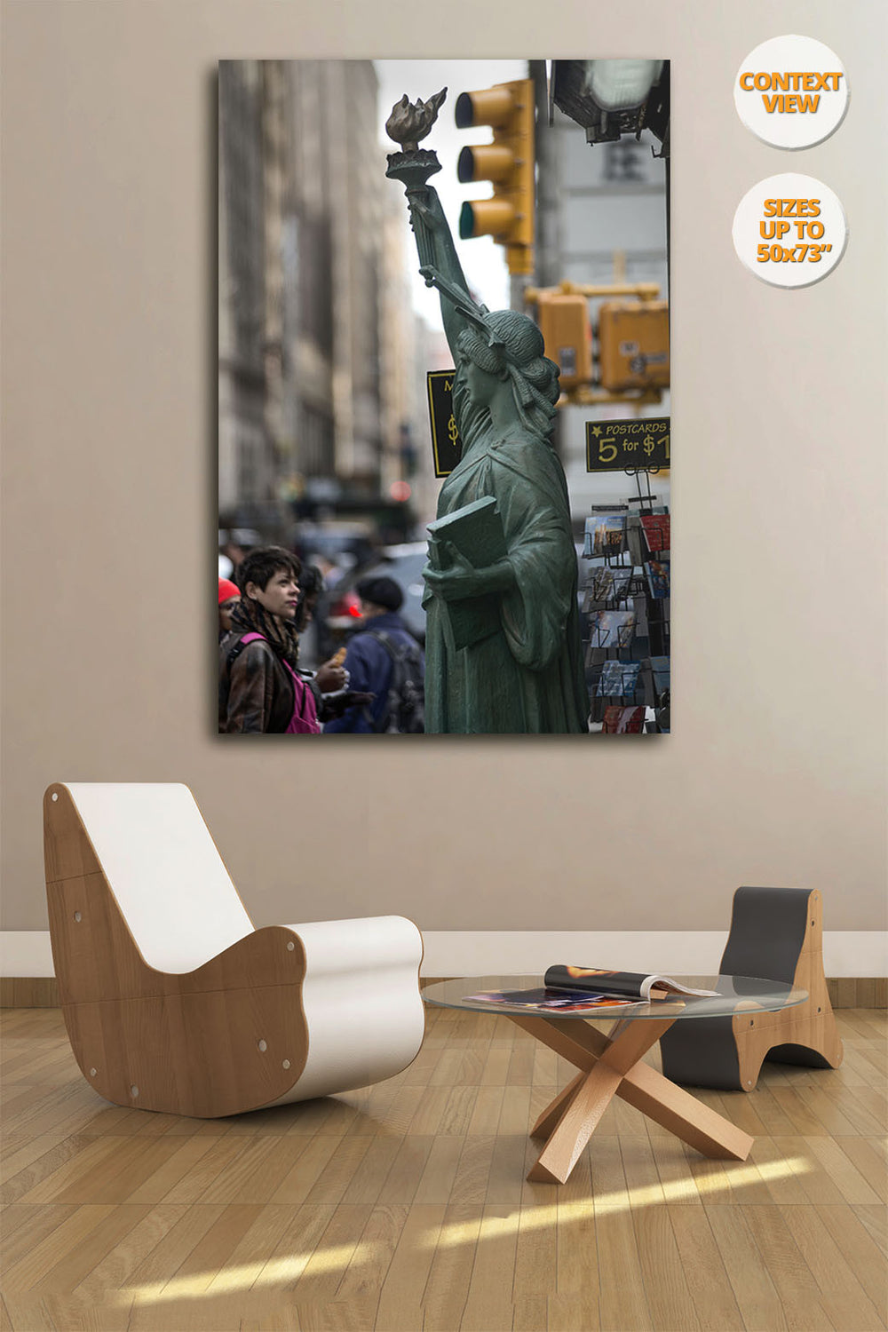 Statue of Liberty, Fifth Avenue, New York. | Print hanged in living room.