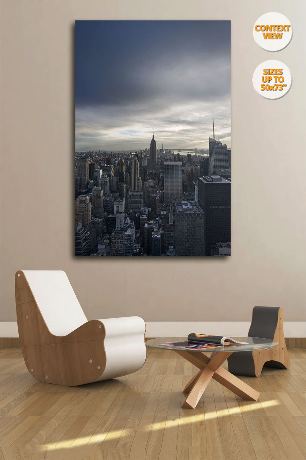 The Empire State Building before sunset, Midtown Manhattan, New York. | Print hanged in meeting room.