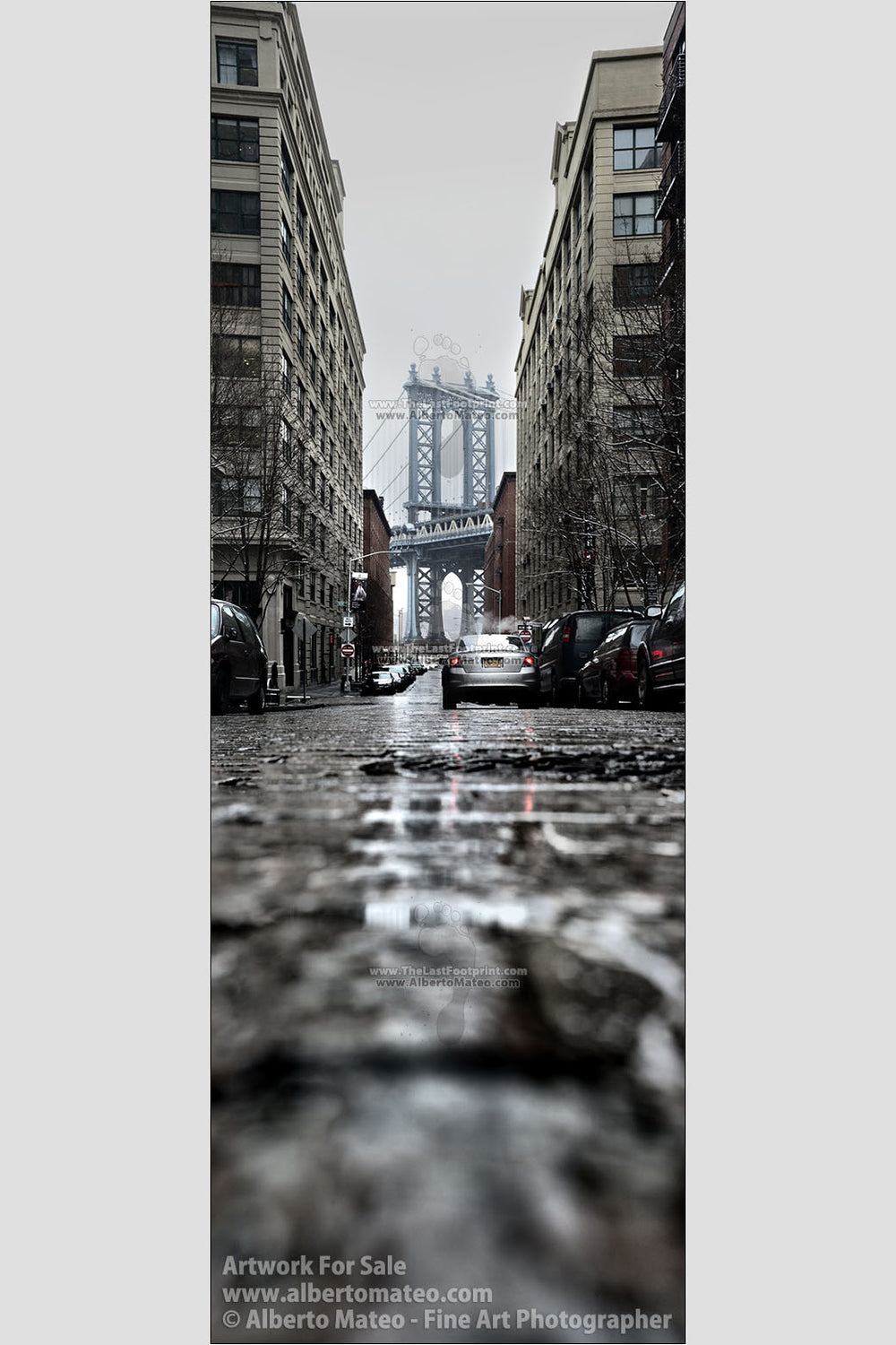 Manhattan Bridge from Brooklyn, New York. | Open Edition Giant Print.