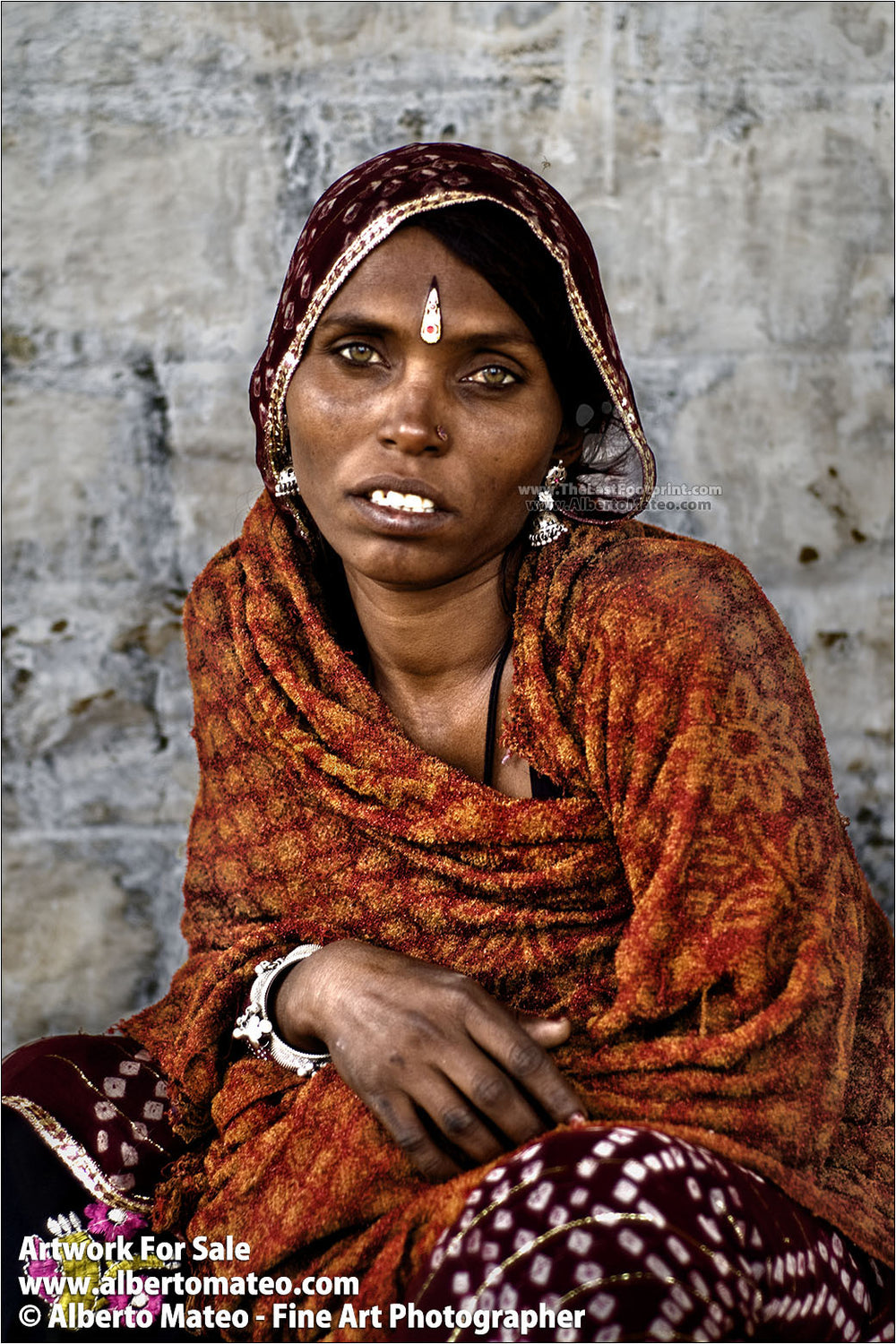 Portrait of Rajastani woman, Pushkar Camel Fair, Rajastan.