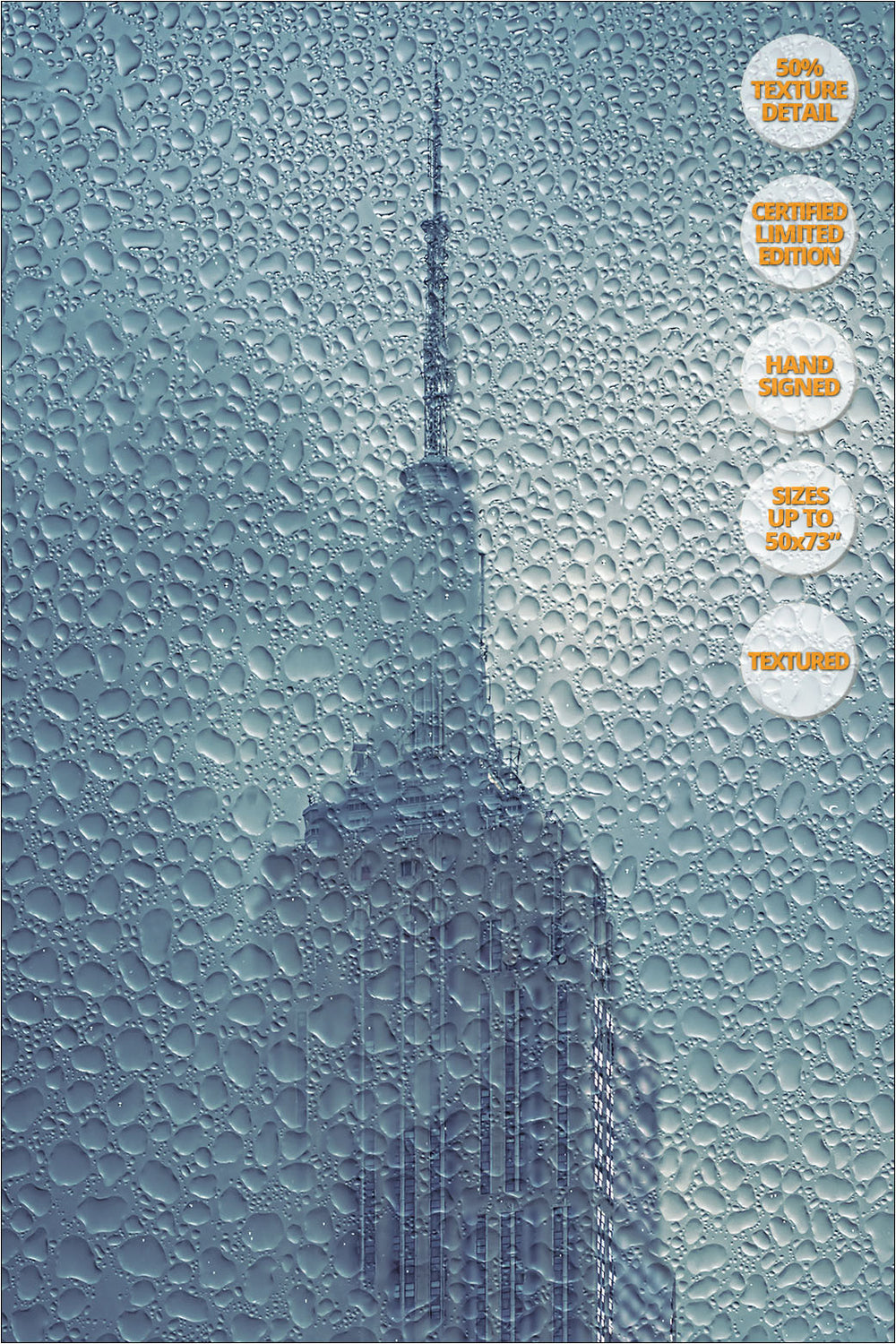 Empire State under the Rain, New York. Series 1/4. | Detail view at 50%.
