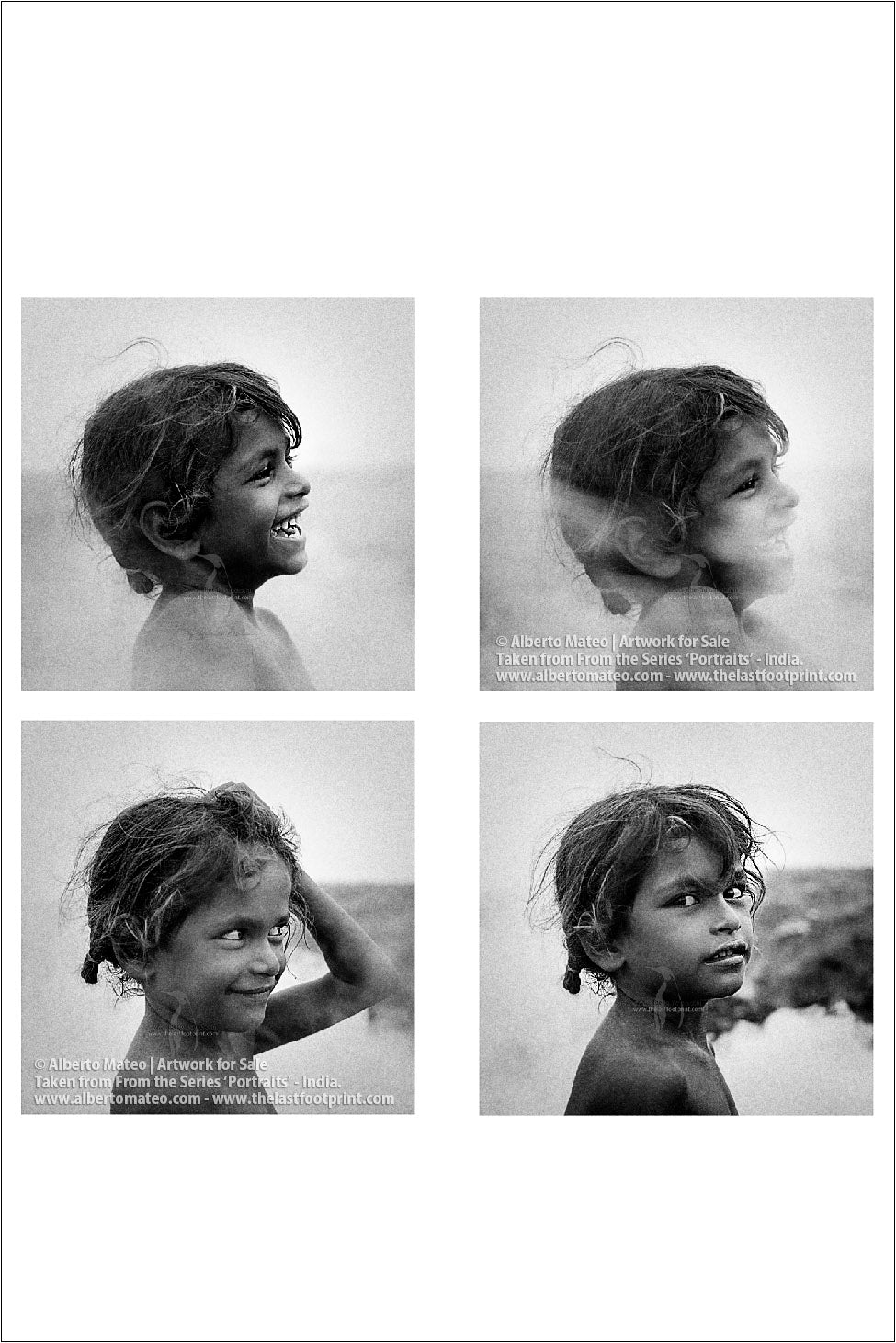 Series of four Portraits of small Girl, Sons of Coal Series.