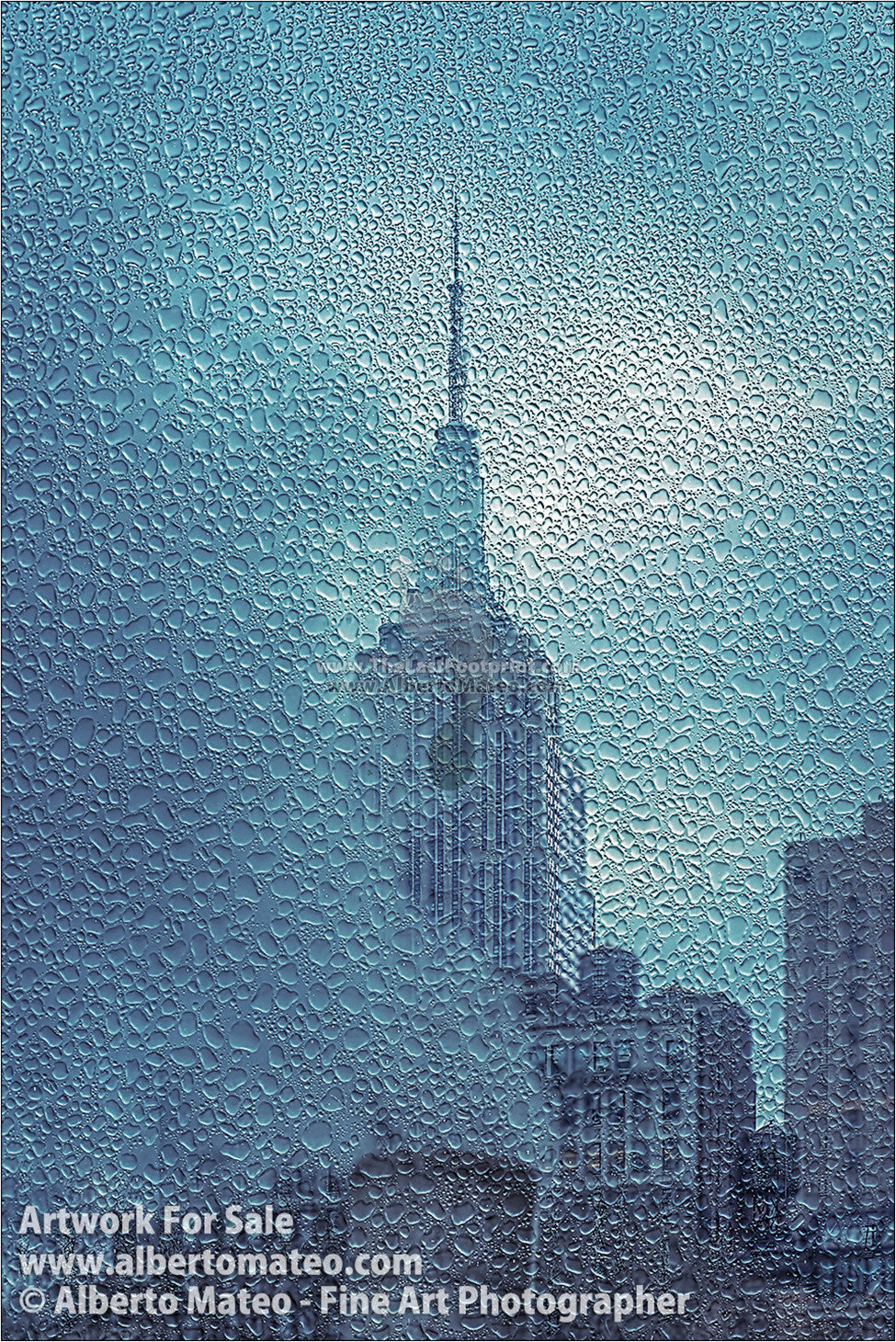 Empire State under the Rain, New York. Series 1/4. | Full view.