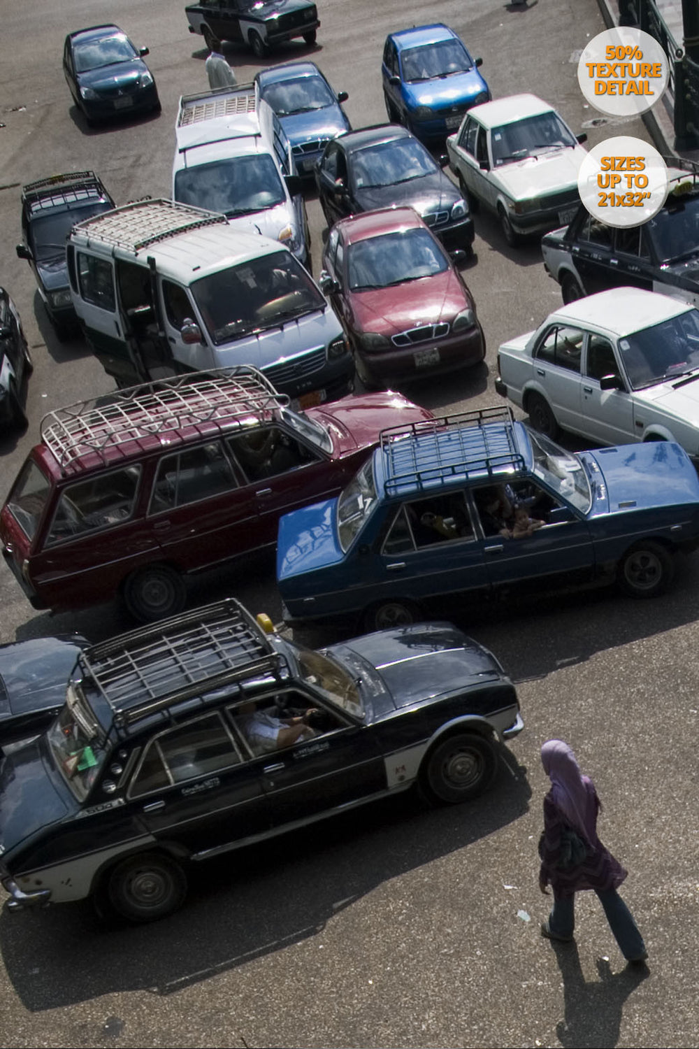 Crazy traffic in Ramses Square, Cairo, Egypt. | By Alberto Mateo.