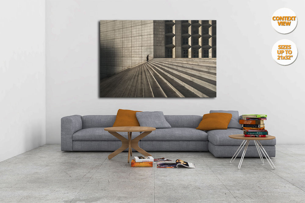 Great Arch of the Defense, Paris. | Print hanged in living room.