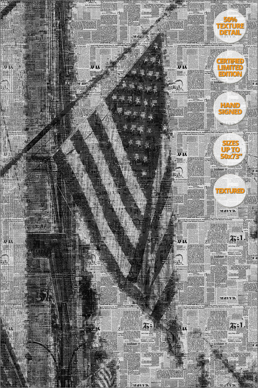 Flag in the Fifth Avenue, NYC. Already Written Series. | 50% Detail.