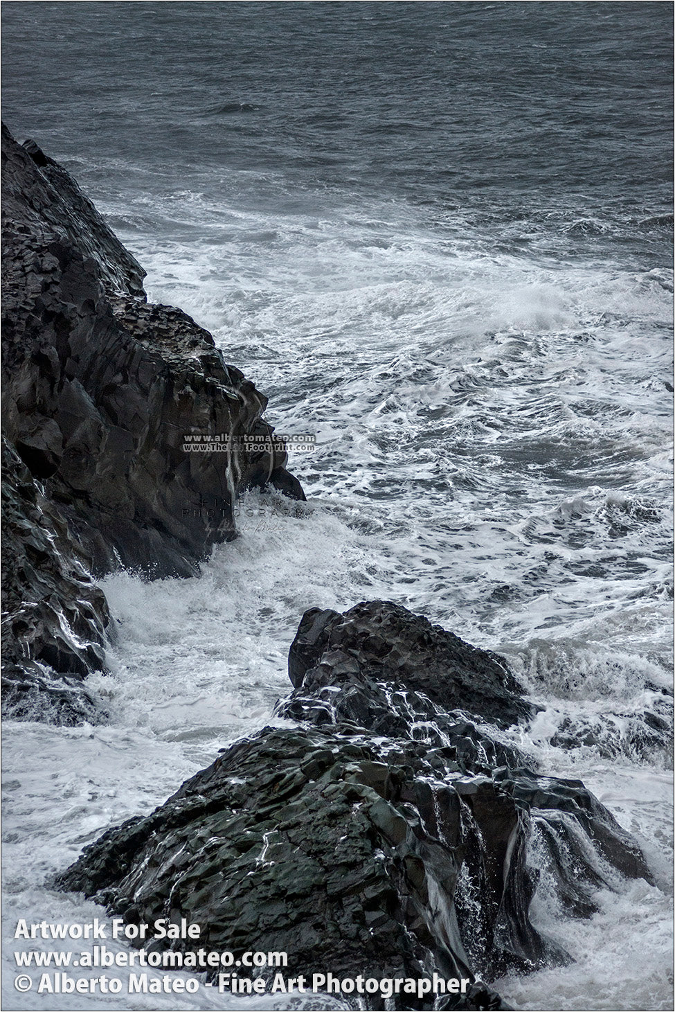 Sea Gale, Breaking Waves, Dyorhaley, Iceland. 1/5