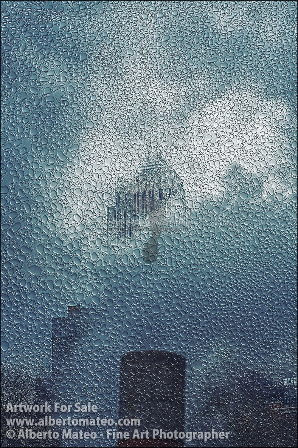 Empire State under the Rain, New York. [3/3] | Full view of the Print.