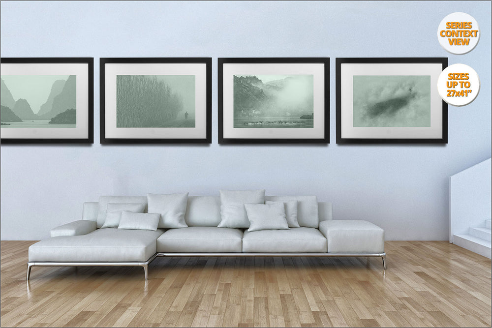 Karstic pinnacles in Ha Long Bay. | View of Series hanged in Living Room.