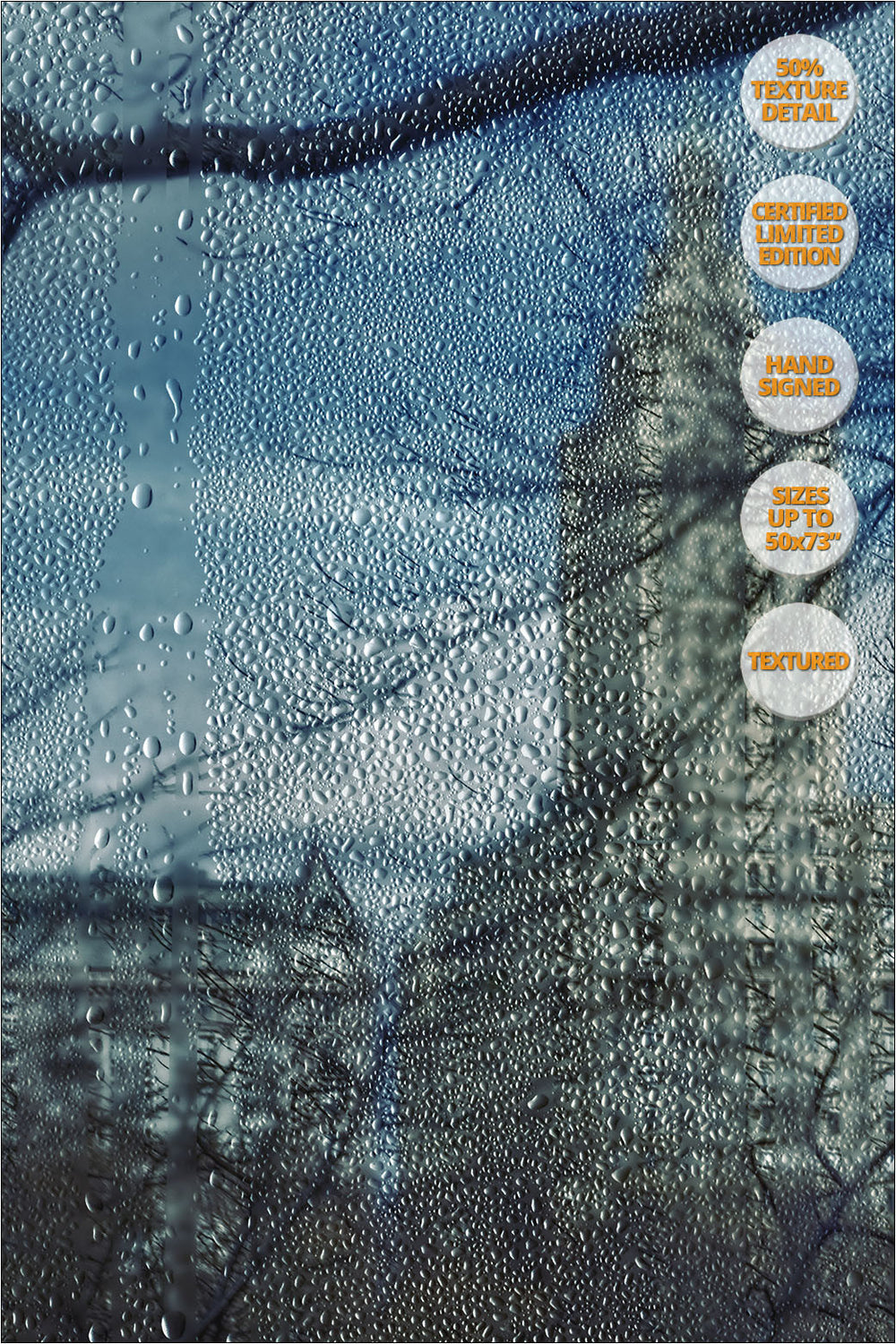 The San Remo from Central Park in Winter, New York. | 50% Magnification Detail.