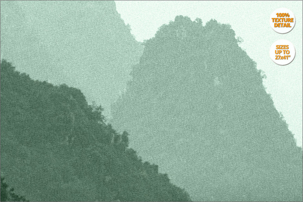 Karstic pinnacles in Ha Long Bay. | 100% Texture Print Detail.