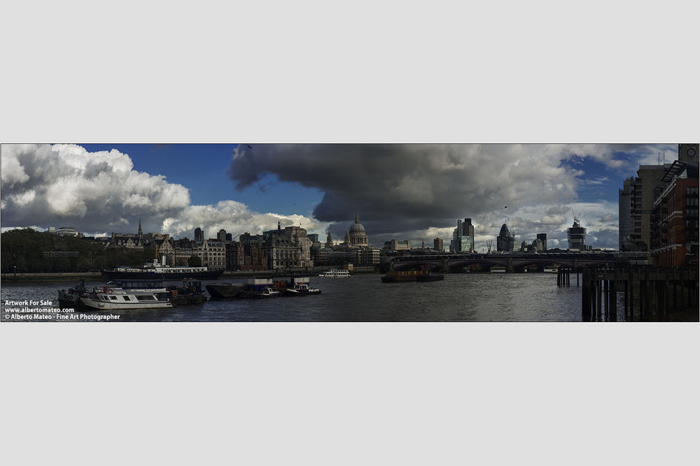 Thames, Saint Paul Cathedral, London. | Open Edition Print. | Available as Giantography