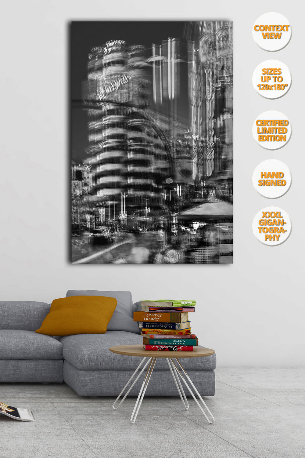 Capitol Building, Gran Via, Madrid, Spain. | Hanged on living room.