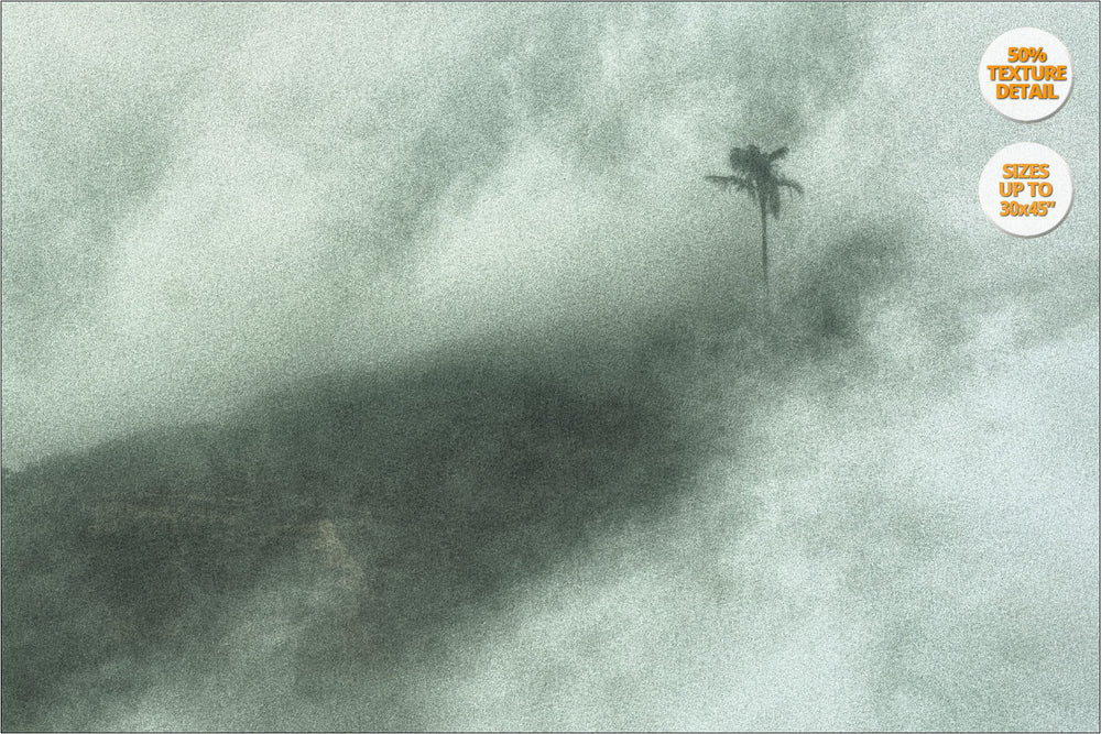 Fog in Thi Ngai, Bac Ha Mountains. | 50% Magnification Detail.