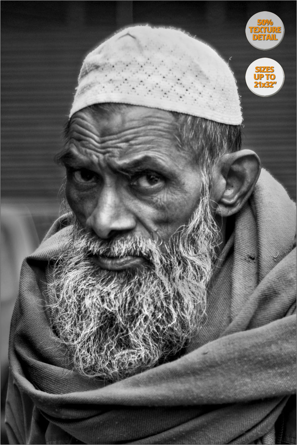 Elderly man, Main Bazaar, New Delhi, India.
