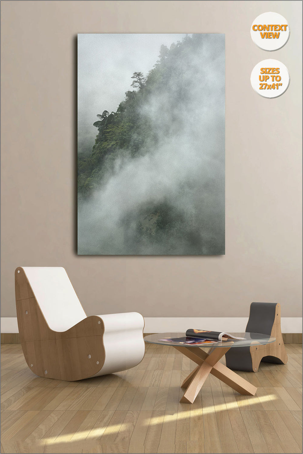 Tree in the fog, Bac Ha, Vietnam. | Open Edition Print hanged in living room.