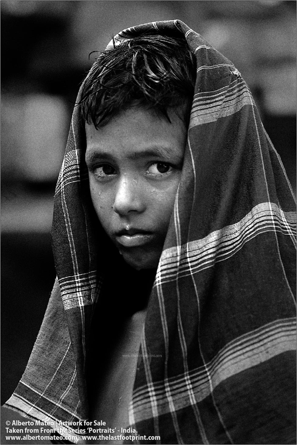 Portrait of Muslim Boy, Ballia, Uttar Pradesh, India.