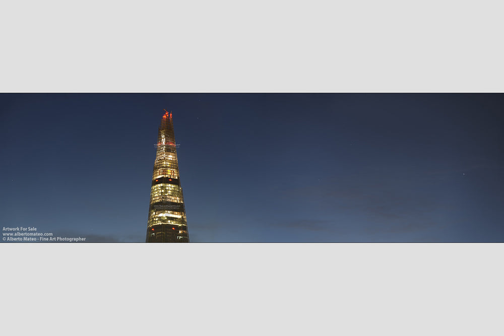 Top of The Shard at dusk, London. | Giant Print hanged in office.