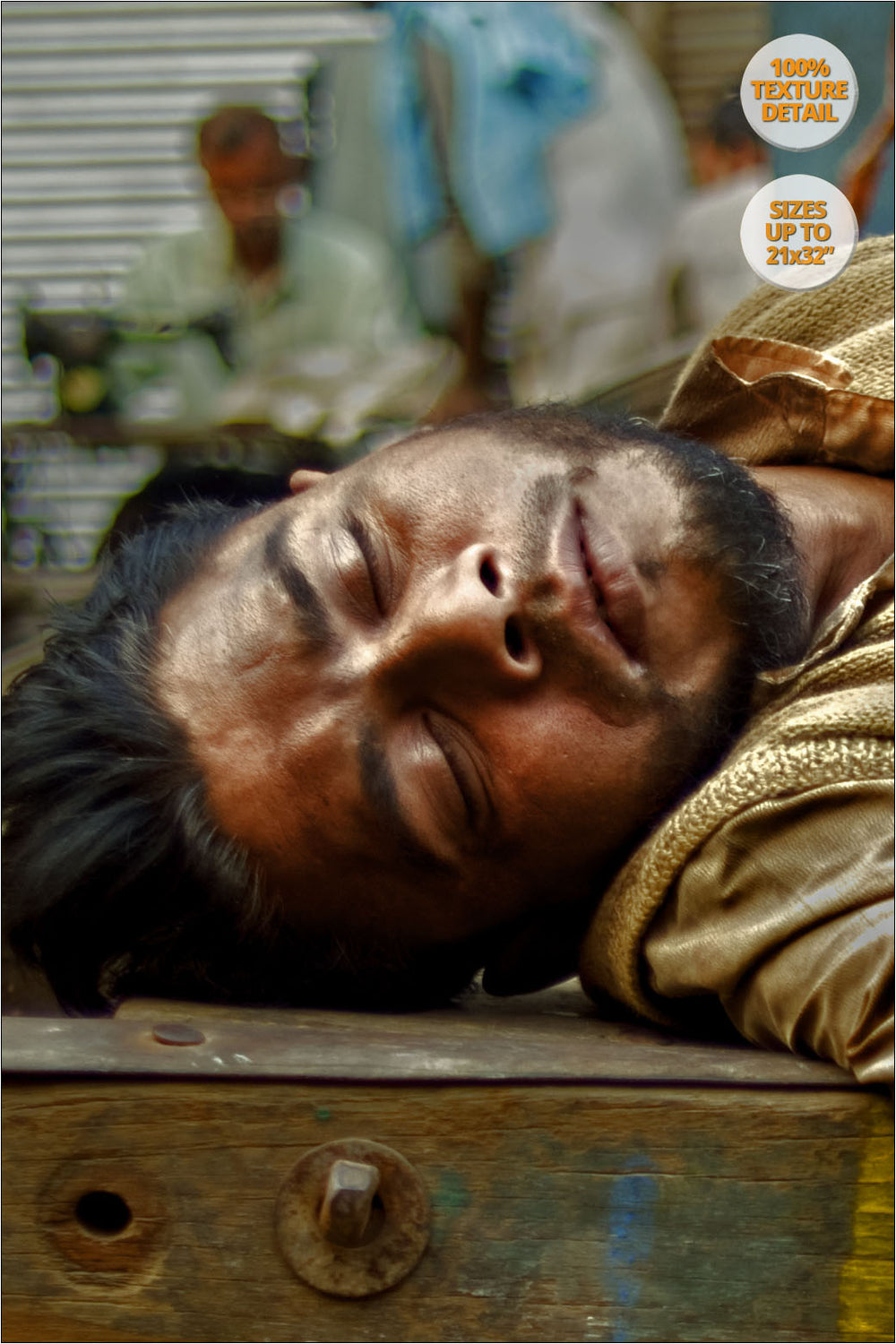 100% Detail. | Carrier taking a nap, Delhi. | Fine Art Photography.