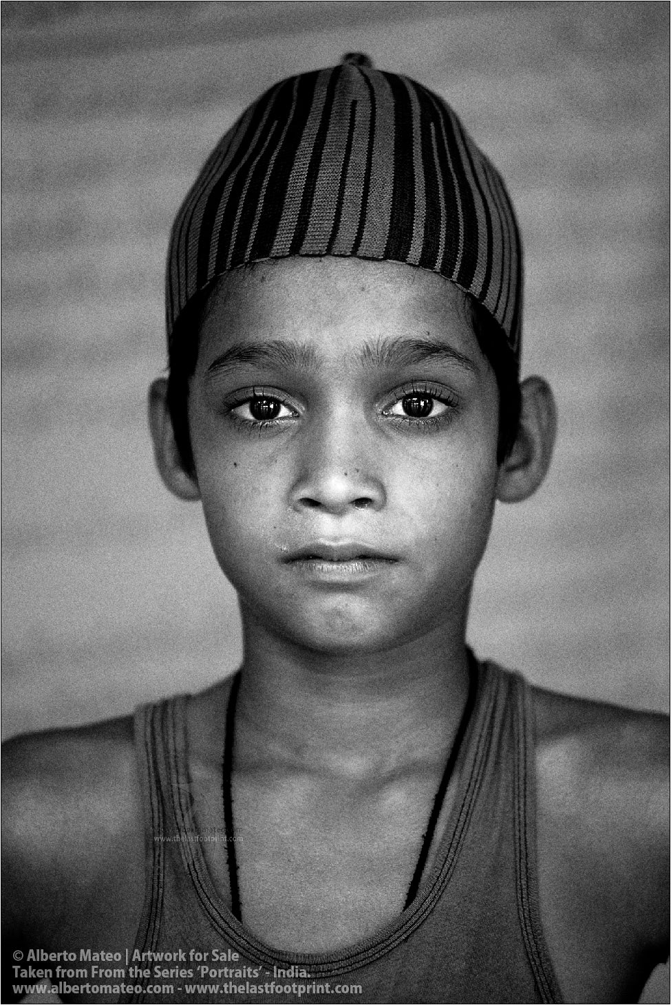Portrait of Muslim Child, Ballia, Uttar Pradesh, India.
