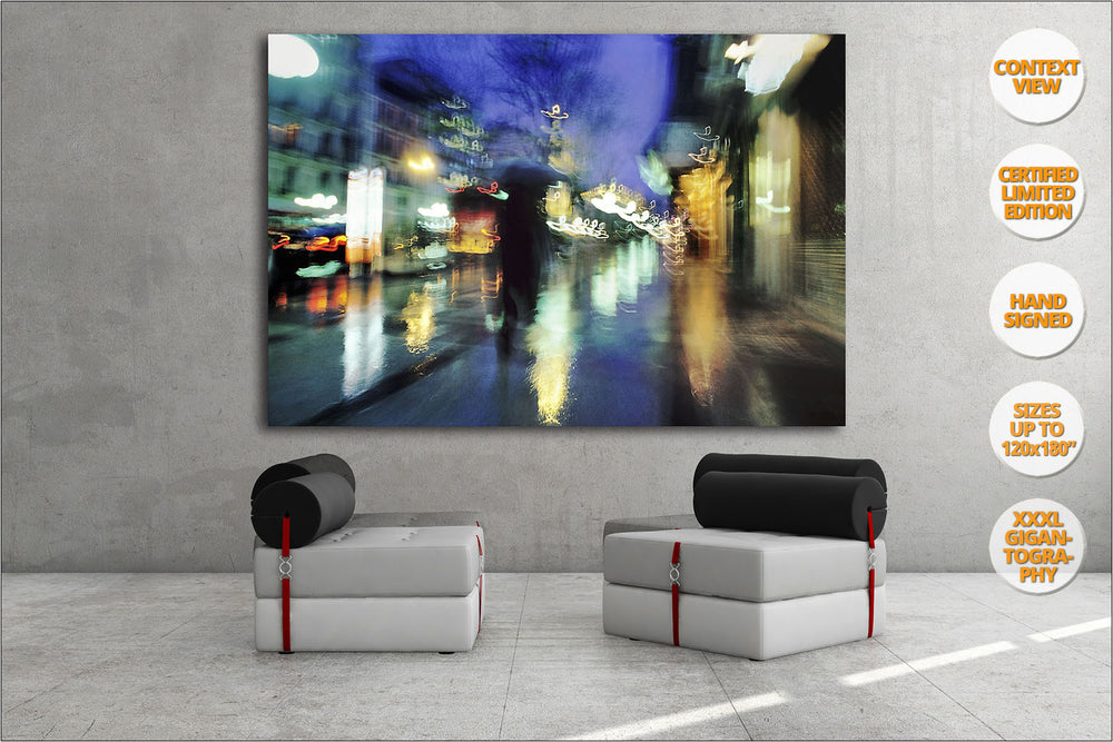 Rain in Calle Alcala, Madrid, Spain. | Limited Edition Print hanged in waiting room.