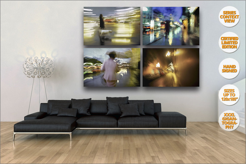 Rain in Madrid (Spain) Series. | Prints hanged in living room.