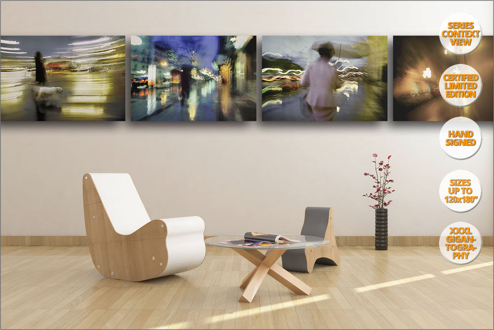 Rain in Madrid Series. | Limited Edition Prints hanged in living room.
