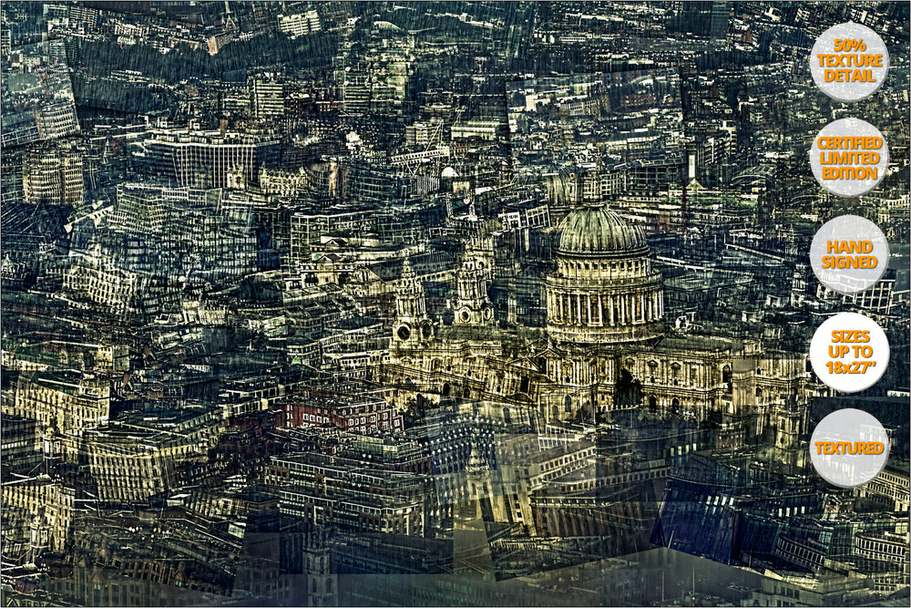 Aerial view of London, Saint Paul Cathedral, London, United Kingdom.