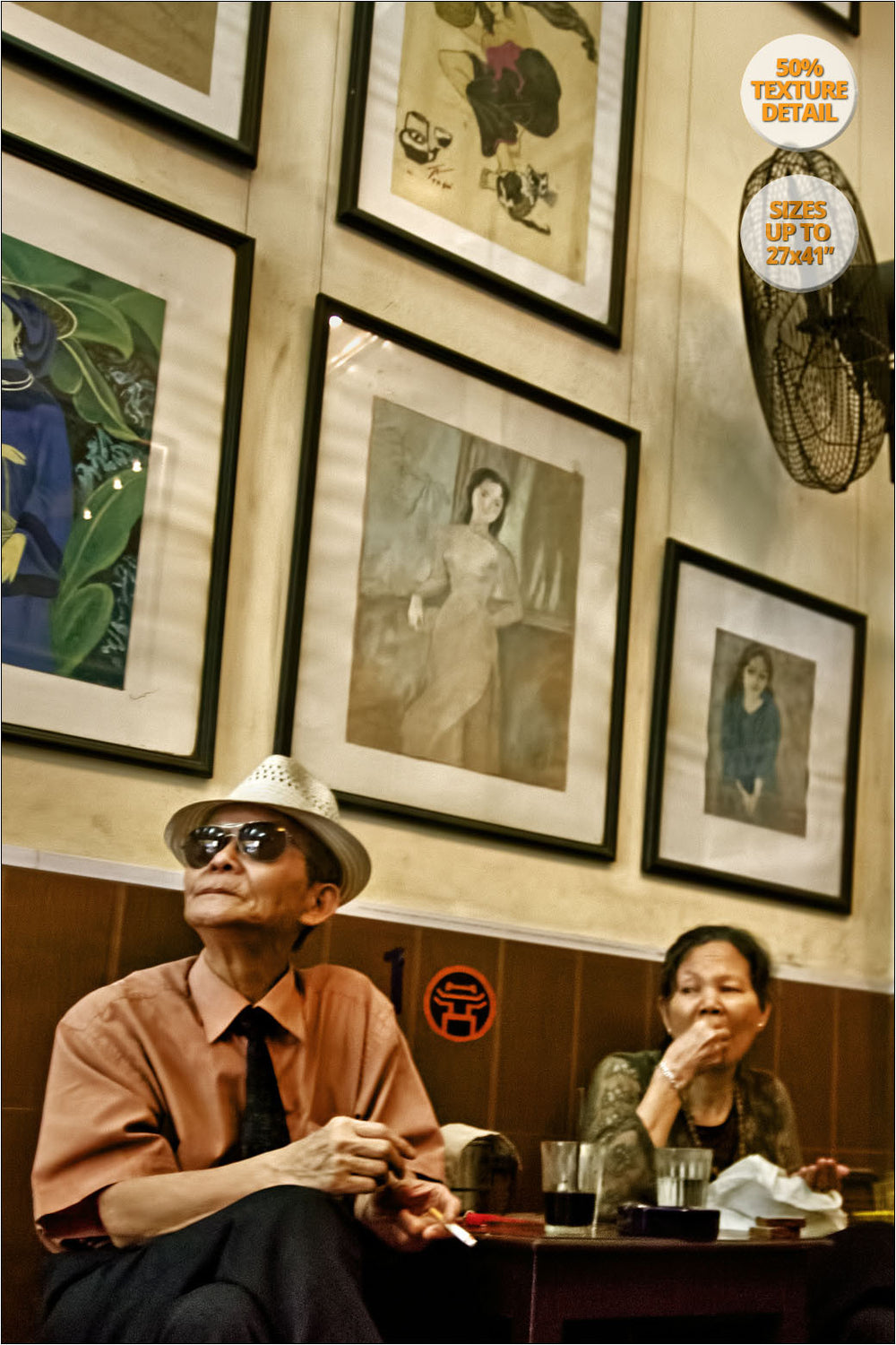 Couple in Cafe Lam, Hanoi, Vietnam.