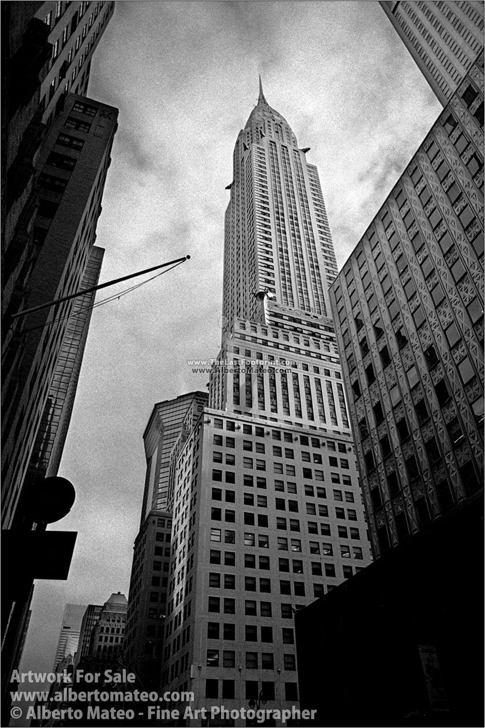 Chrysler Bdg, New York. | Black and white Print.