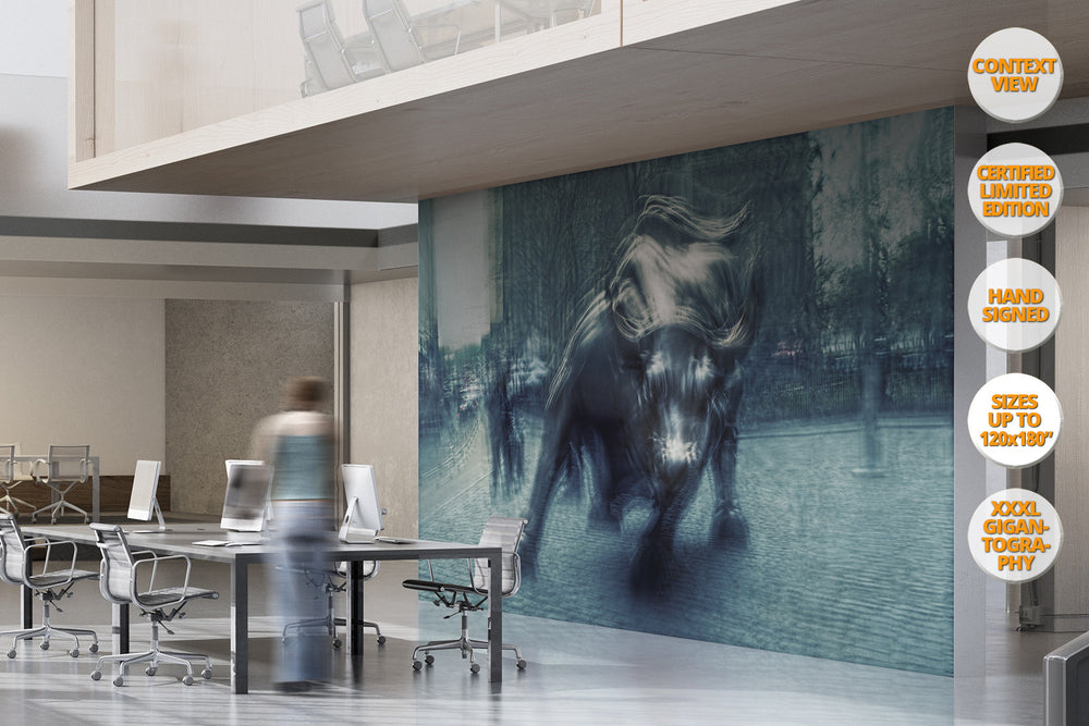 The Bull, Wall Street, New York. | Giant Print hanged in office.
