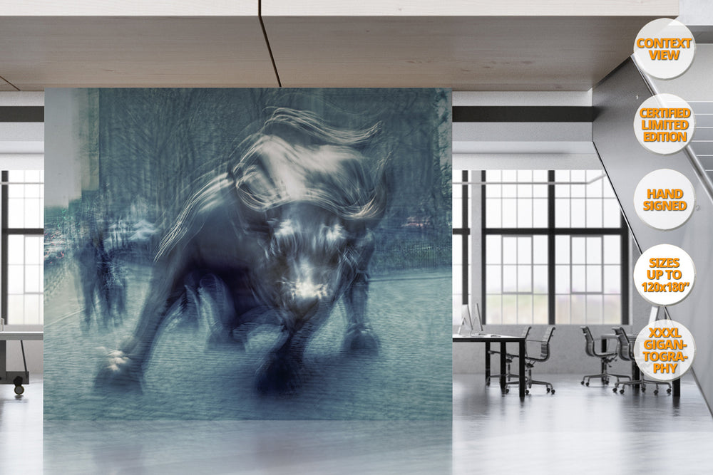 The Bull in Wall Street, Manhattan, New York. | Giant Print hanged in office.