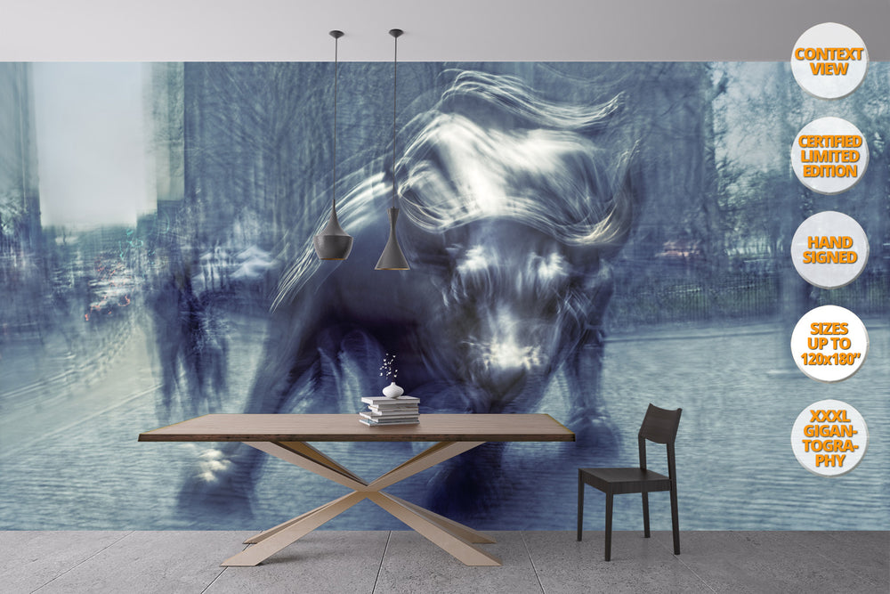 The Bull in Wall St., Manhattan, NYC. | Giant Print hanged in living room.
