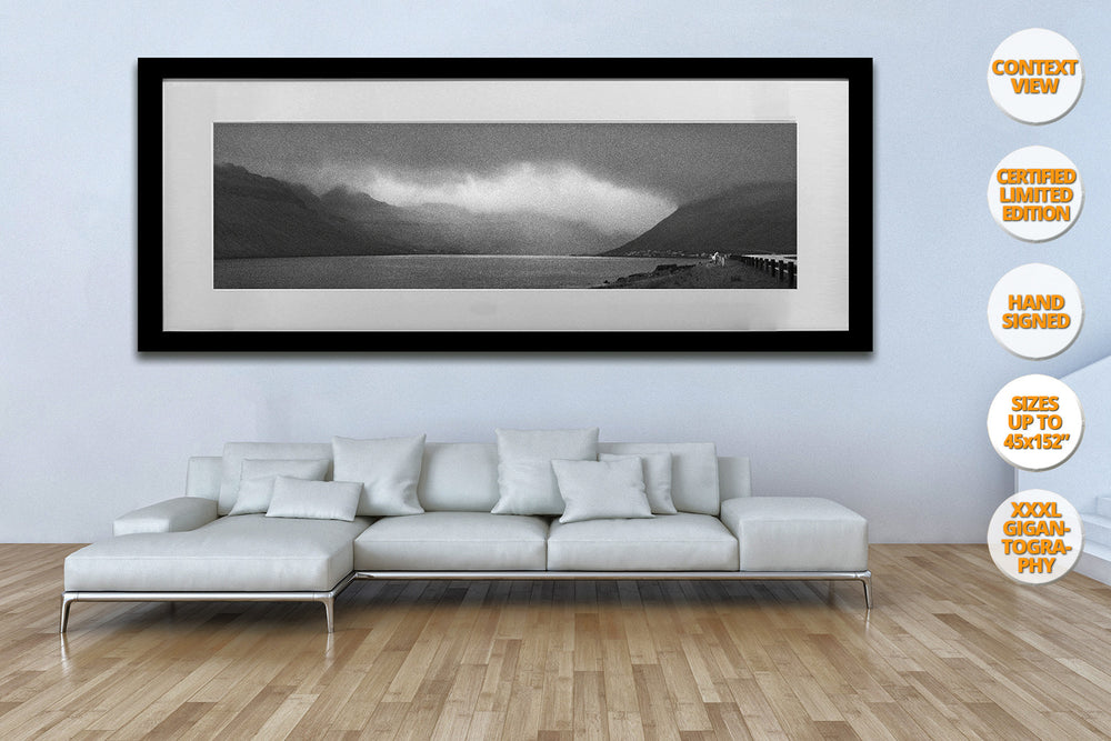 The White Horse, Faroe Islands.  | Black and White Fine Art Print.