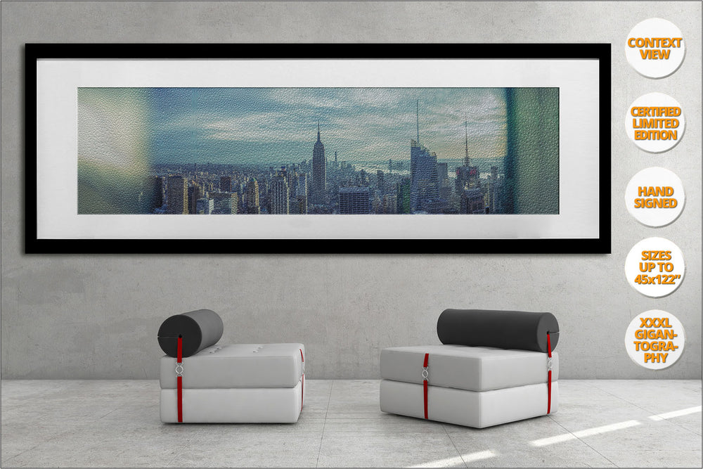 Manhattan Giant Panorama, New York. | Giant Print hanged in office.