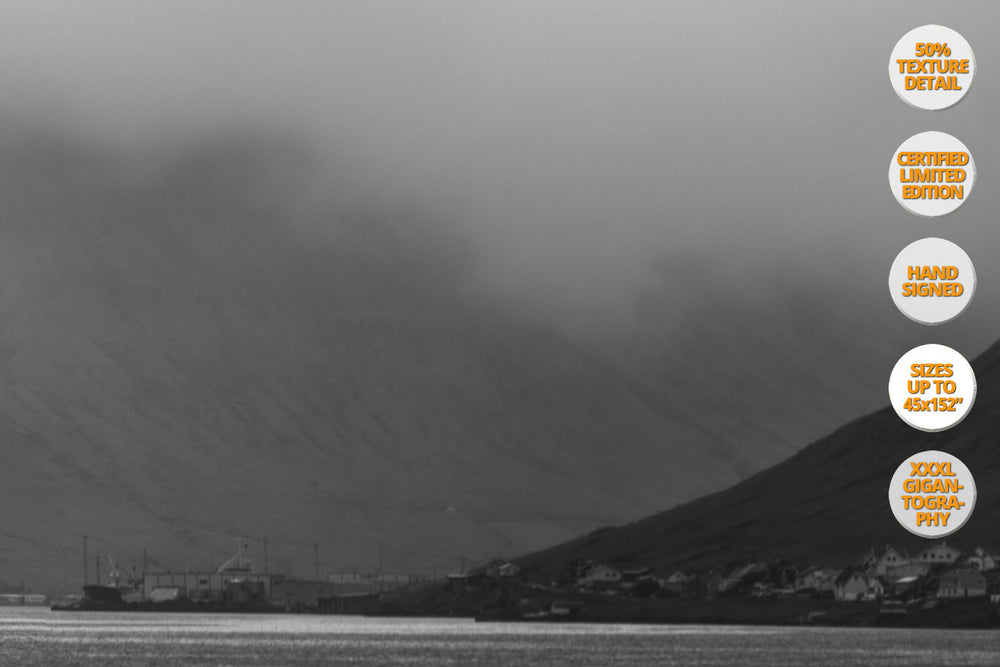 The White Horse, Faroe Islands, North Atlantic. | 50% Grain Detail View.